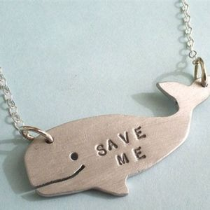 Save Me Whale Necklace by Christy Robinson